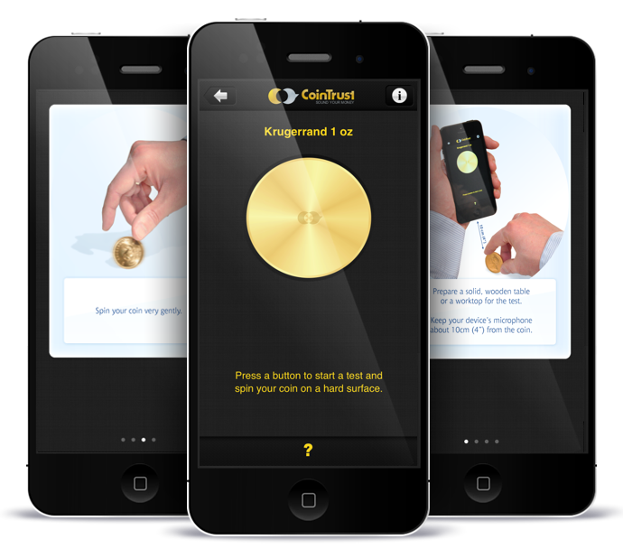 CoinTrust app - gold/silver coins and bars sound verification for