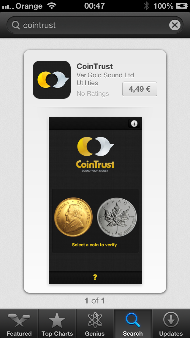 CoinTrust in the AppStore