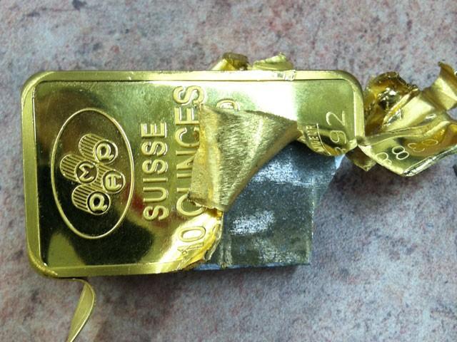 Fake Tungsten-filled Gold Bullion Bar